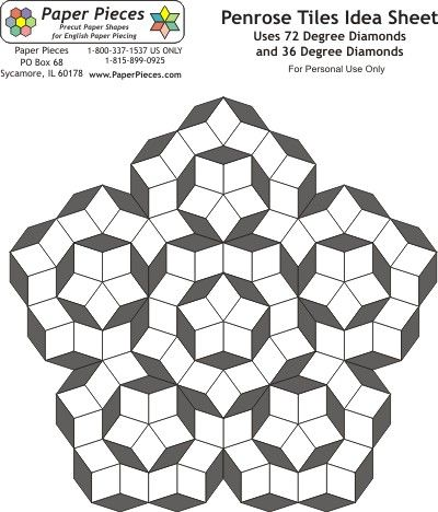 Penrose - free pattern sheet from paperpieces.com                              …