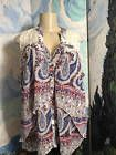 ♠♣ HEARTSOUL JUNIORS PLUS 2X BLUE PAISLEY BUTTON LACE SLEEVELESS SHEER HI... http://ebay.to/2pG0wIB