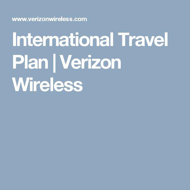 International Travel Plan  Verizon Wireless  Trip -4170