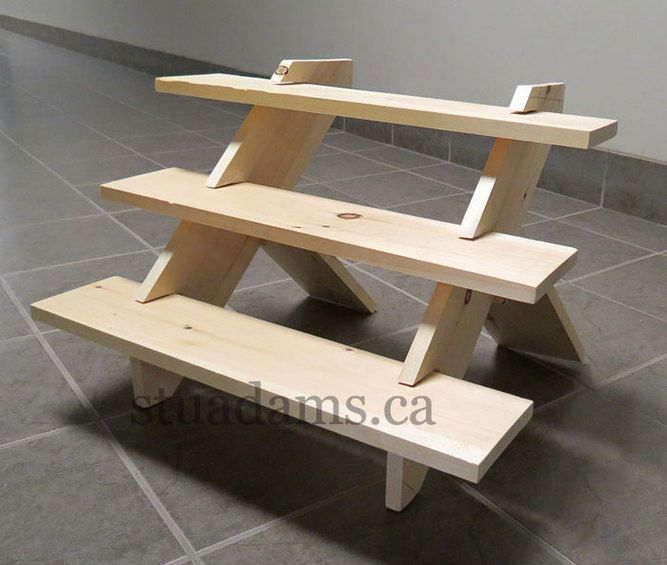 Hi, I'm Stu. With my hands I make portable, durable, no-tools, solid wood, tabletop display stands for people who sell things at craft shows, trade shows, art shows, farmers' markets, street...