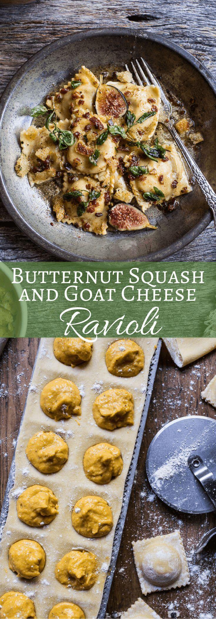 Butternut Squash and Goat Cheese Ravioli   http://halfbakedharvest.com /hbharvest/