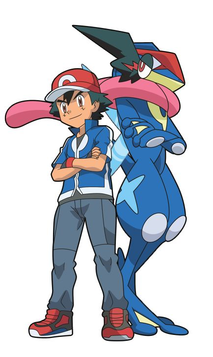 Ash and Greninja (POKEMON XYZ) by Alexalan