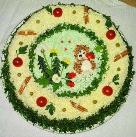как красиво украсить салаты | Всё для женщин (с ...