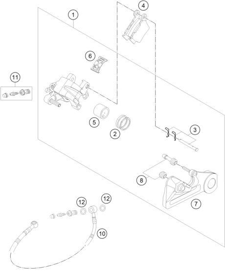 ETRIER DE FREIN ARRIERE - Partie cycle - Pièces Origines KTM | Esprit-KTM.com La référence pour vos pièces détachées d'origine moto KTM, votre équipement KTM, vos vêtements KTM et vos accessoires KTM. Retrouvez tous les powerwears et tous les powerparts dans la boutique