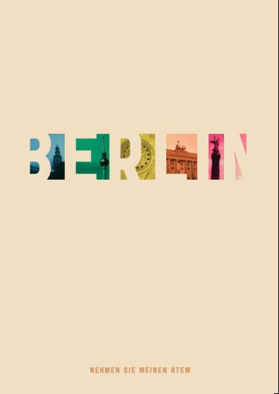 Typographic treatment of Berlin, Germany - maybe I shud do one for Melbourne just for fun..