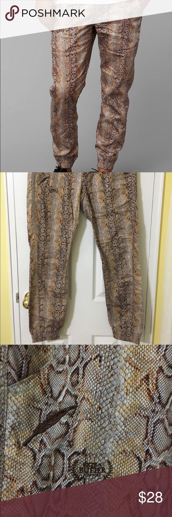 """Men's Brown Publish Year Of Snake Jogger Pant Extra Butter collaboration with Publish - """"Martin"""" snakeskin print jogger pants  Like new with no damages Publish Pants Sweatpants & Joggers"""