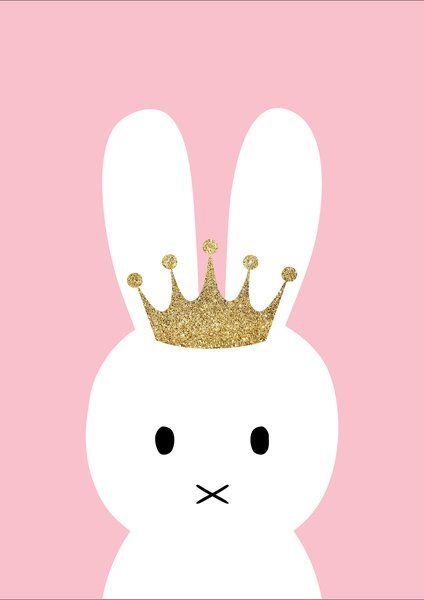 Princess Bunny Print | Ginger Monkey Kids Prints