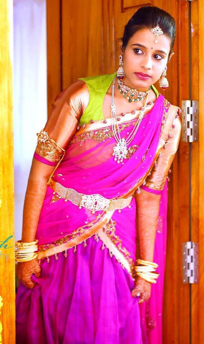 Half Saree And Jwelery Bridal Sarees Saree Half Saree
