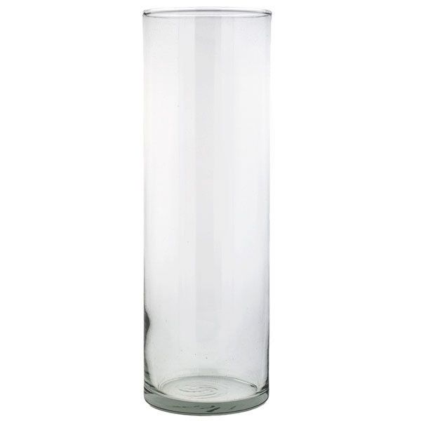 "Glass cylinder vase, 9"" height Our clear, glass, cylinder vases are an elegant and timeless choice for your home or event! The simple and classic silhouette makes it a great piece to stand alone or pa                                                                                                                                                                                 More"