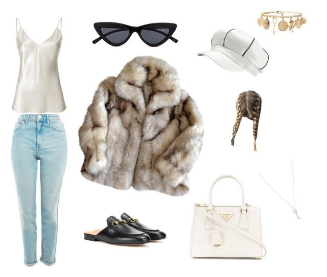 """""""Untitled #25"""" by sofiabaaima ❤ liked on Polyvore featuring Joseph, Topshop, Prada, Tiffany & Co. and Forever 21"""