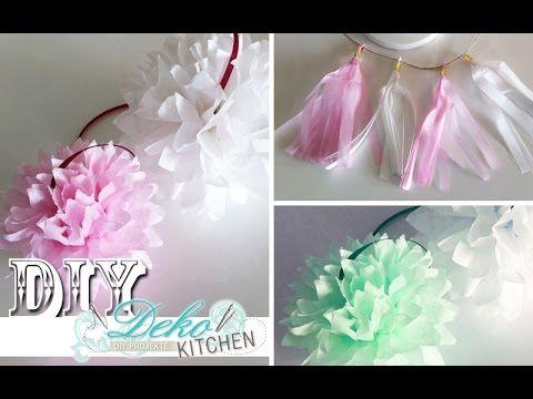 DIY: Riesige Blüten aus Krepppapier – Teil 2 [How to] | Deko Kitchen - YouTube