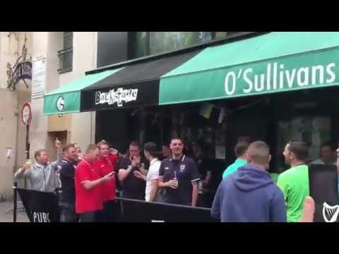 Brilliant Banter Irish Fans & England Fans in France: 'Someone bring the Russians' EURO 2016 - YouTube