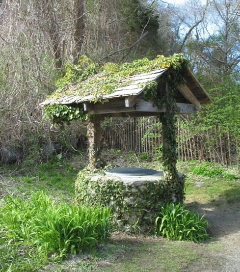 I said I'd never have a twee Wishing well in our garden....but it's an old rambling cottage garden and it's kinda crying out for one...