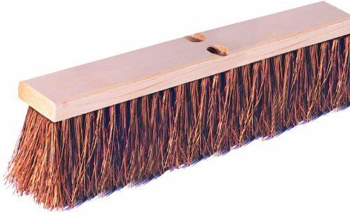 "Wilen F102018, Palmyra Garage Sweep, 18"" Wood Block, 4"" Bristle Trim (Case of 12) by Continental Commercial. $107.84. The ideal sweep for coarse, heavy dirt on wet or dry surfaces. Ideal on driveways, basements, sidewalks and garages. Natural fibers. For use in industrial, commercial and food service. Wood block. 4"" bristle trim. 18"" block size."