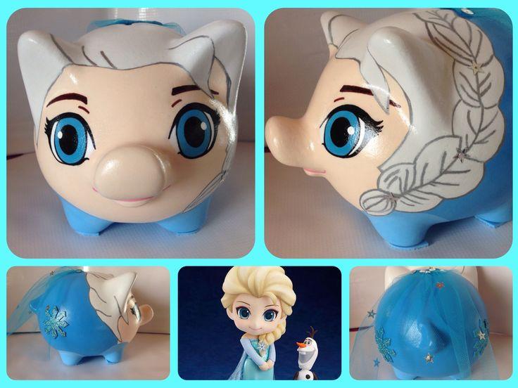 Alcancia Personalizada, Elsa Frozen.