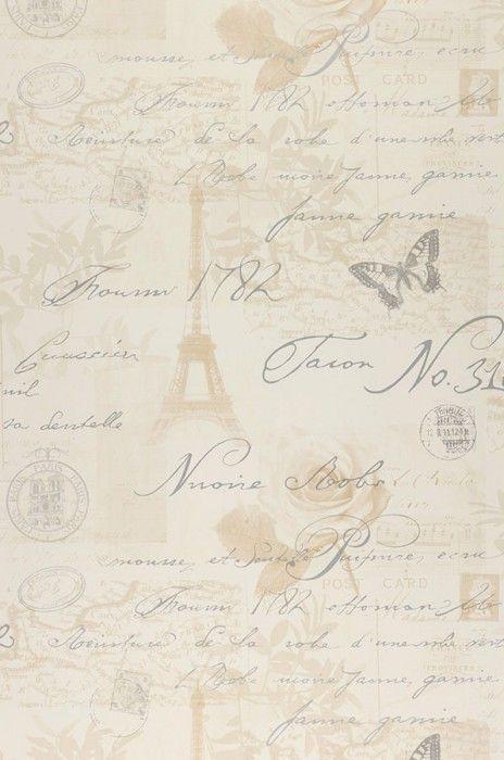 Paris butterflies roses writing