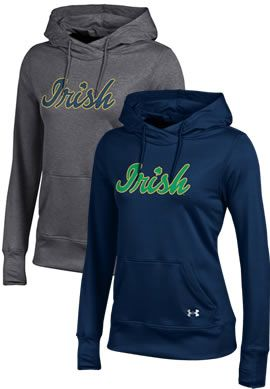 This Notre Dame Under Armour sweatshirt features HearGear Technology, so it's super comfortable to wear even on warmer days.