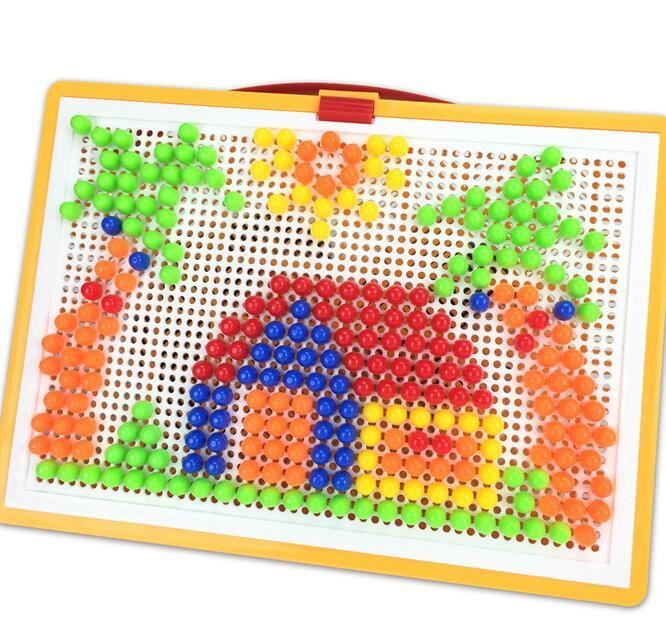 Children  Puzzle Toys  Mushroom Nail 296 PCS Pinch blocks ABS Material To Play Imagination Creativity Sensory Perception