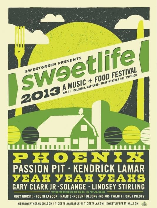 Sweetlife Music and Food Festival Poster