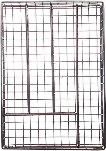 14 Metal 5 Section Flatware Organizer- Cutlery Tray (Bronze Flatware Organizer)