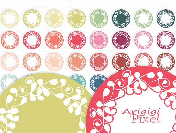 ornate flourish circles clip art set of 32 digital by ArigigiPixel