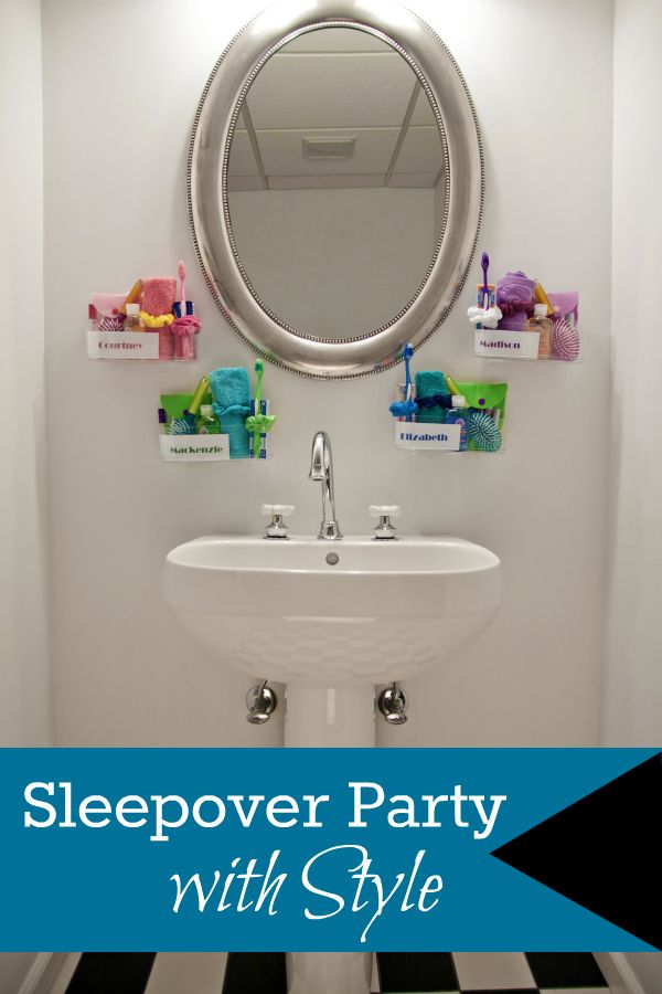 Sleepover Birthday Party Idea – Functional and Fun Favors with Command™ Brand Clear!