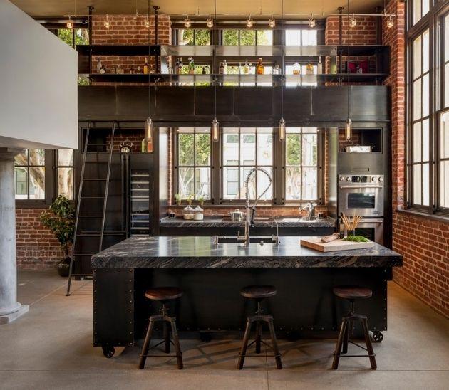 Creative Industrial Kitchen Decor Designs For Your Urban Getaway Industrial Style Kit Projeto Da Cozinha Industrial Decoracao Estilo Industrial Sotao Cozinha