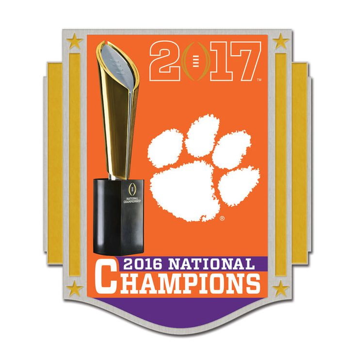 Clemson Tigers WinCraft College Football Playoff 2016 National Champions Collector Pin