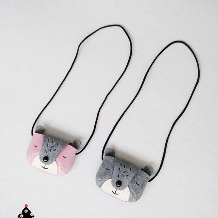 New Baby Girls Boys Bear Coin Bags Kids Lovely Grey/ Pink Cute Bear Style Messenger Bags Shoulder bags