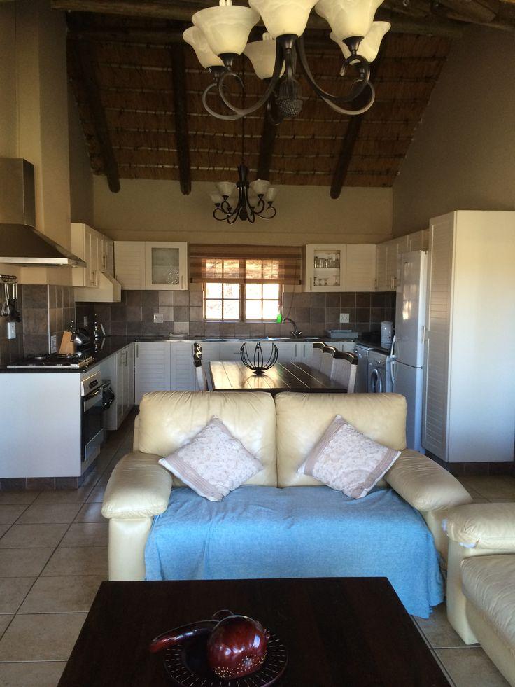 Lounge & kitchen of Kingfisher cottage