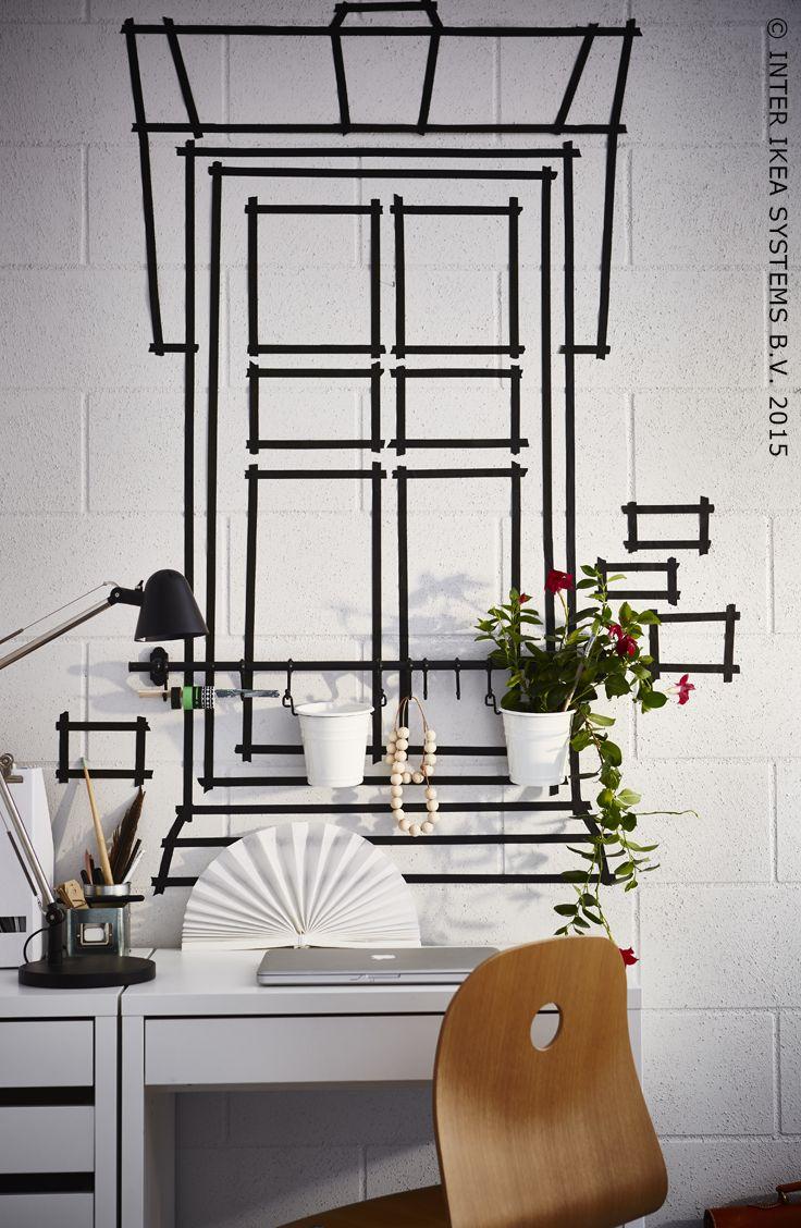 Washi tape raamdecoratie #IKEA #IKEAidee #DIY