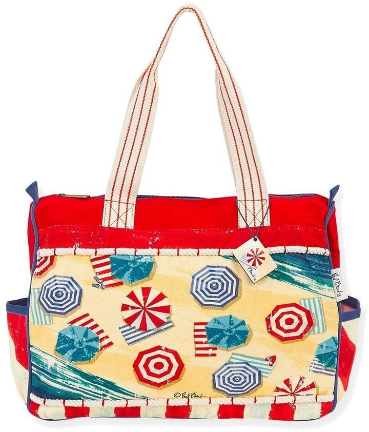 Sun N Sand Classic Designs Beach Umbrellas Oversized Tote Bag 8159811