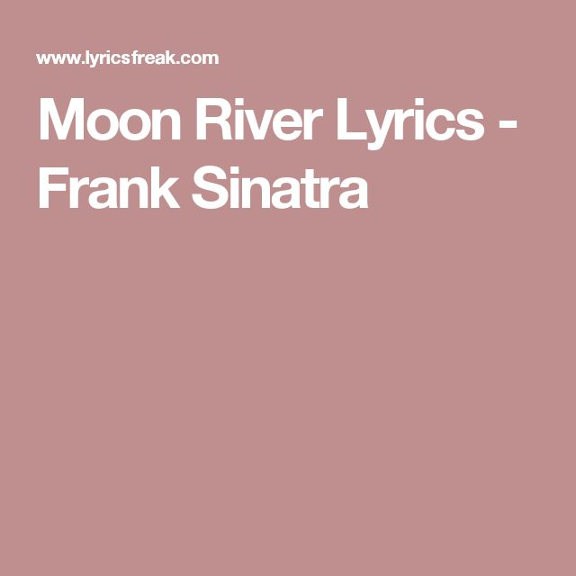 1000+ ideas about Moon River on Pinterest | Andy Williams, Moon ...