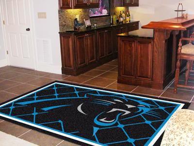 New Fanmats Fan Carolina Panthers Team 5 X 8 Foot Area Rug Floor Decor