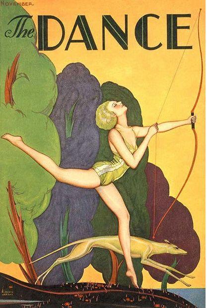 Carl Link - Dance Magazine Cover - Diana The Huntress - circa 1920's - 1930's