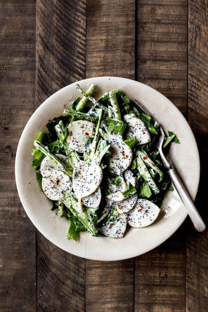 Turnip Salad with Yogurt, Herbs & Poppy Seeds