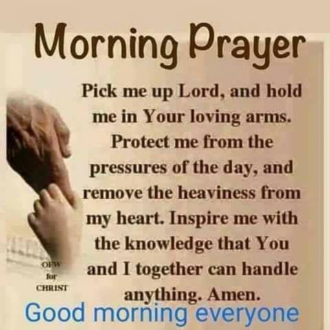Morning Prayer. Amen...Mildred Williams Thank You God !!! Hallelujah