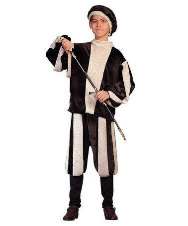 Look what I found on #zulily! Black & White Renaissance Prince Dress-Up Set - Boys by RG Costumes #zulilyfinds