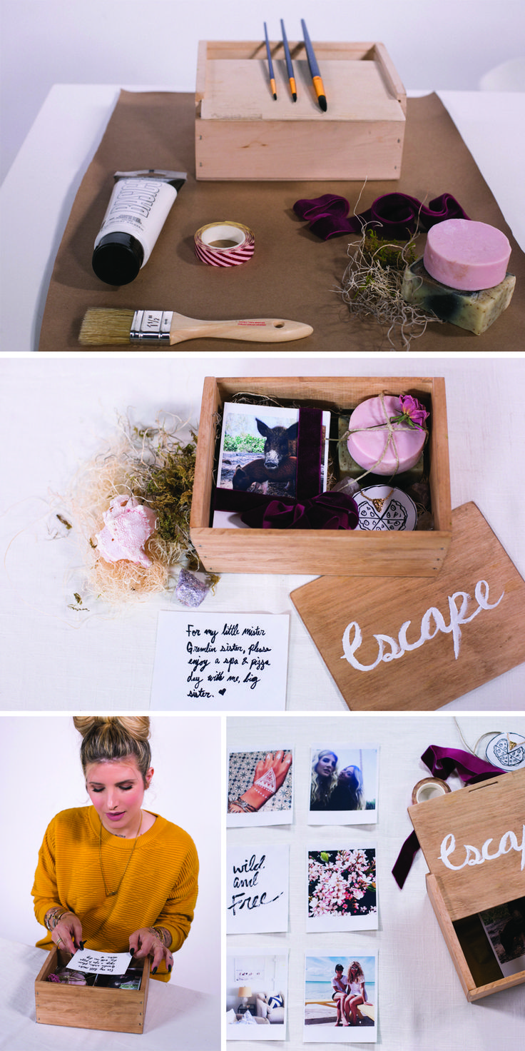 DIY a thoughtful, cute birthday gift with this customized photo box, filled with special memories and little presents! http://mrkate.com/2016/11/22/diy-personalized-photo-gift-box/