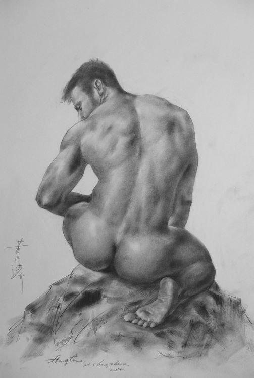 Art erotic male nude