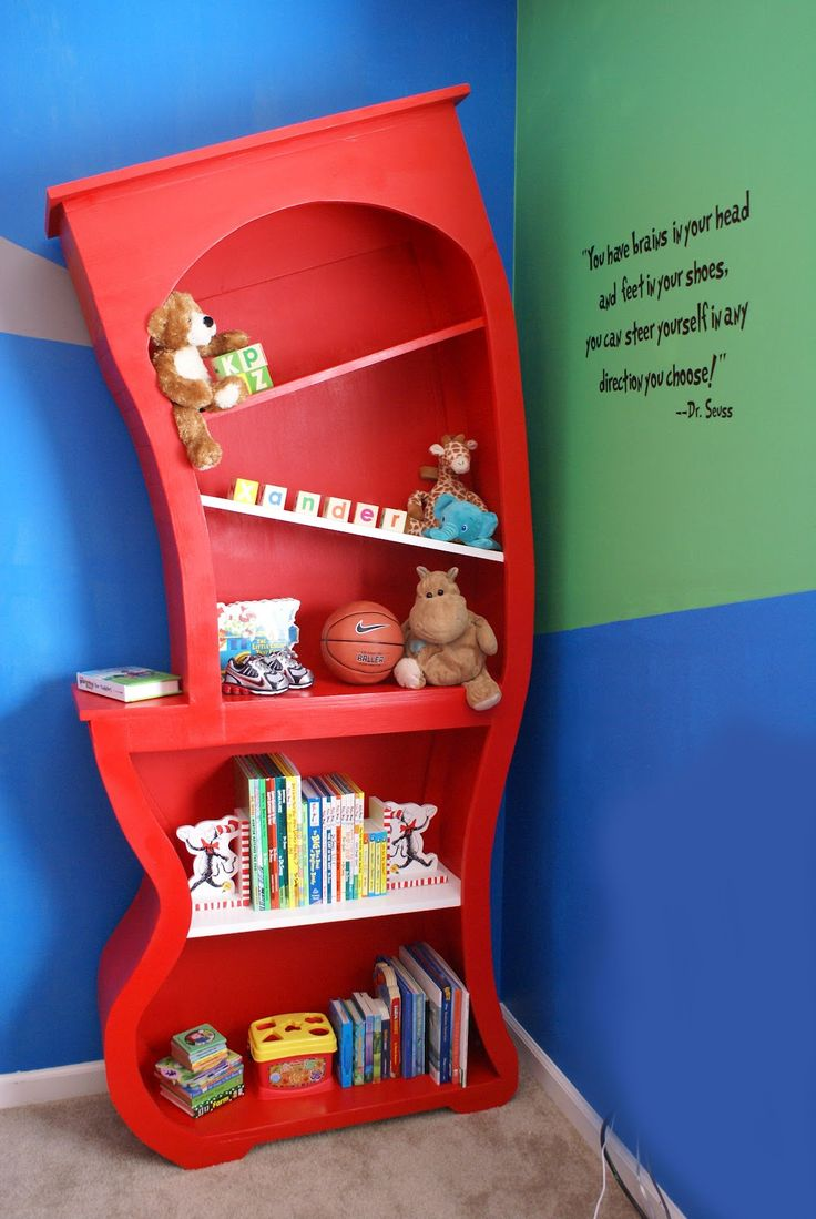 I have always loved these but didnt want to spend the money, this lady came up with an idea on how to make them....The AlaBahamians: Dr. Seuss Bookshelf for sweet baby Xander!