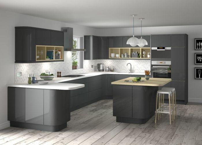 die besten 25+ küche hochglanz ideen auf pinterest | hochglanz ... - Küchenzeile Hochglanz Weiß