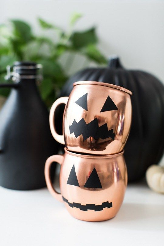 Favorite Halloween DIY (spooky Moscow mule mugs via Sugar & Cloth)  #RePin by AT Social Media Marketing - Pinterest Marketing Specialists ATSocialMedia.co.uk
