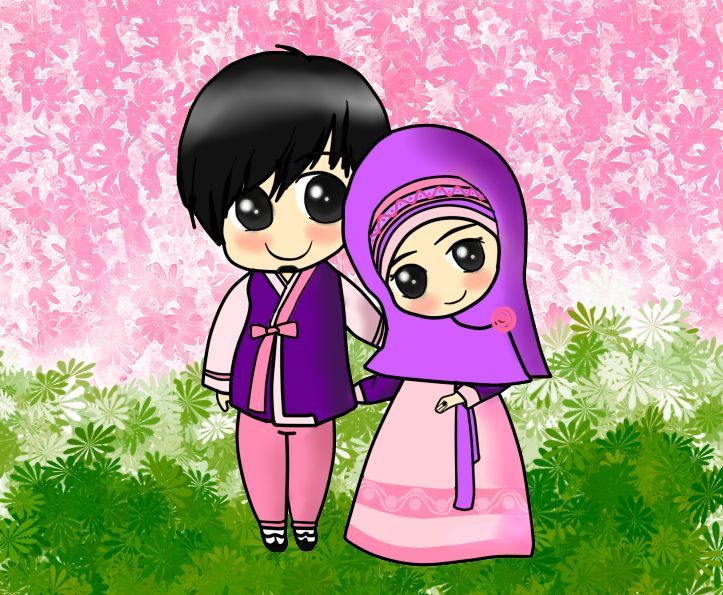 Muslim couple #Hijab #muhajabbah #muslimah #anime #manga #cartoon #islam #veil #islamic #woman #lady #girl #hijabbers #muslim  #deviantART  #drawings #drawing  #muslimah