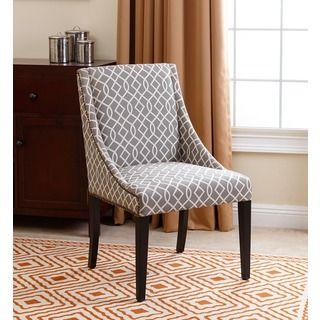 Abbyson Sara Swoop Dining Chair, Grey Swirls By Abbyson