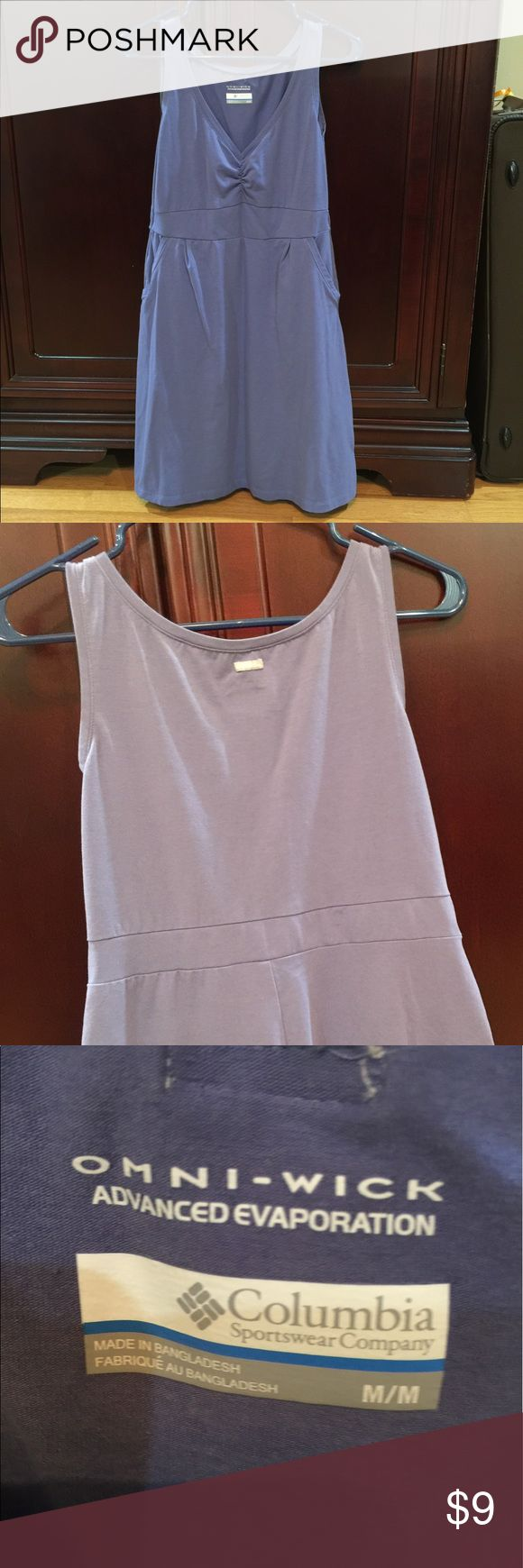 Omni wick Columbia dress in size M Awesome dress for those hot summer days. Soft omni wick to wick the sweat away and help keep you cool. Light purple, very flattering with pockets! Columbia Dresses