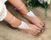 Crochet sandali a piedi nudi - Footless Sandali - Matrimonio Sandali - piede gioielli - Sandles - matrimonio a piedi nudi-damigelle regalo - Boho sandali da spiaggia