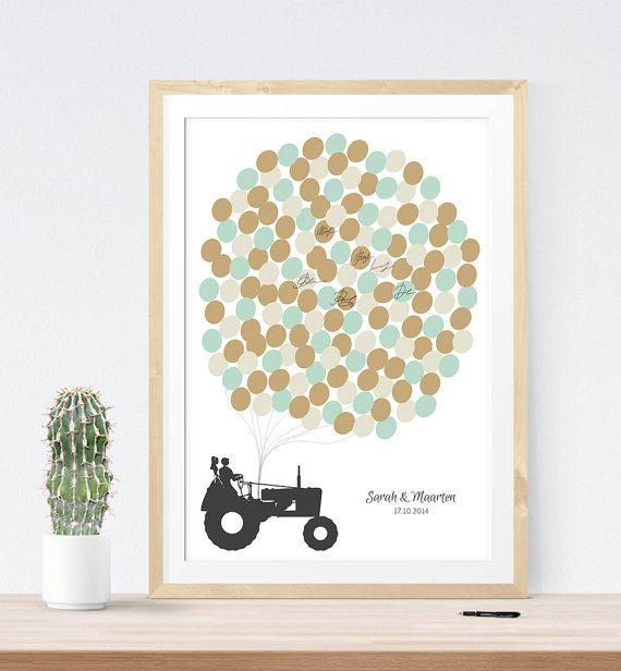 Rustic Wedding Guest Book Alternative print with by MDBWeddings