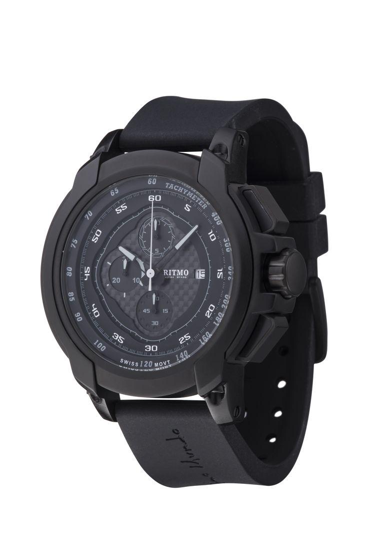 Quantum I Black 50mm Sport Swiss Chronograph
