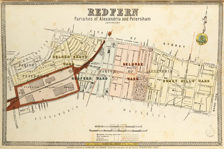 Redfern borough map. Available to purchase as an archival print. Contact the Library Shop for details. Print number C006720037